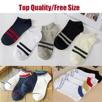 Wholesale Hiking Boats - High Quality Women And Man Short Sports Socks Boat Ankle Sock Skateboard Professional Comfortable Sock In Stock DHL Fast Shipping