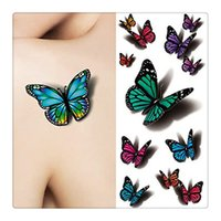 Wholesale Fashion Body Art Tattoo Temporary Tattoo Luxuriant Sexy Jewelry Body Tattoo Art Trending Butterfly Tattoos Wedding Supplies