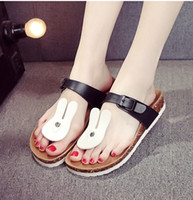 Wholesale Max Style Shoes - women flat slippers 2017 new style cute cartoon slides summer fashion beach shoes max size 40 43 in blue black flip flops ladies