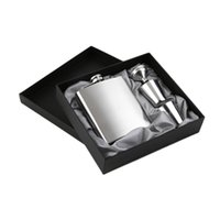 Wholesale Wine Set Pack - 7 oz Stainless Steel Hip Flask Sets jack Flagon With Funnel Cups wine Whisky Hip Flask Portable Flagon bottle Gift Box Packing