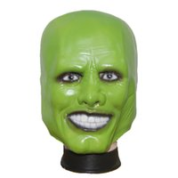 Wholesale Green Fancy Dress Costumes - Wholesale-X-MERRY Halloween Party Cosplay Latex Mask Jim Carrey Costume Fancy Dress Famous Movie Film Props 'The Mask'