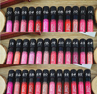Wholesale gloss mn resale online - 38colors Menow Lip Gloss Lipsticks Top Liquid Lipstick No Stain with Cups MN Cosmetics Long Lasting Mist Liquid Lipgloss Lip Balm