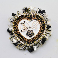 Wholesale China Clothing Wholesale Kids - Handmade Heart Bear Cloth Lace Flower Brooch Pin lovely Kids woman jewelry accessories decorative clothing XZ34