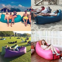 Wholesale 2017 Inflatable Lounger Outdoor and Indoor Fast Inflatable Waterproof Portable Nylon Beach Lazy Chair Lounger Sofa