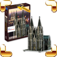 Wholesale New Year Gift Cologne Cathedral D Puzzle Model Puzzle DIY Puzzle Paper Foam Frame Well Known Structure Toy For Believer