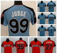 Wholesale Game Uniform Red - #99 Aaron Judge 2017 All-Star Jerseys Blue All-Star Game Jersey #22 Clayton Kershaw Red Baseball Jersey #35 Cody Bellinger Men Uniform