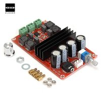 amplifier efficiency achat en gros de-Durable 100W 12V ~ 24V TPA3116D2 double canal carte amplificateur audio numérique pour Arduino haute efficacité module amplificateur audio