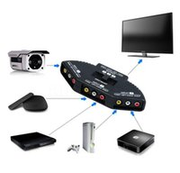 Selector de alta calidad 3 puertos Video Switcher Juego AV Señal Switch Cable AV RCA AV Splitter Audio Converter para XBOX para PS TV