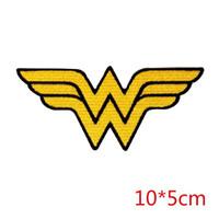 Wholesale Wholesale Superhero Patches - Wonder Woman logo symbol superhero emblem DC COMICS iron-on patch