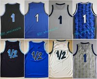 Cheap 2017 Penny Hardaway 1 Throwback Uniforms Basetball Azul Branco Preto 1/2 LP Penny Anfernee Hardaway Jersey Sport Costura com nome