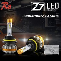 1 Set Z7 9004 HB1 9007 HB5 60W 7000LM Farol de LED Kits Super Slim LUMILED LUXEON ZES Chips Built-in Canbus Error Decoder Condução Lâmpadas de Nevoeiro