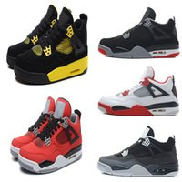 Wholesale Cheap Winter Cats - 2016 cheap basketball shoes air Retro 4 CAVS BRED Fire Red white Cement Oreo Black Cat Sneaker,For Online Sale size 8 - 13