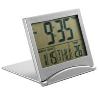 Wholesale Alarm Clock Temp - Wholesale-Digital LCD Large Screen Timer Desk Snooze Calendar Alarm Temp Foldable Clock