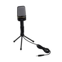 ingrosso microfono sf-Microfono plug-and-play capacitivo da 3,5 mm cablato da studio SF-920 per computer Wholeslae