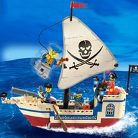 Wholesale Diy Boat For Kid - Enlighten Corsair Pirate Ship Building Blocks Pirate Boat DIY Block Bricks Set Viking Series Assembled Puzzle Figure Toys for Kids