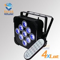 4X LOT Rasha Hex 6in1 RGBAW UV LED Par Light LED a batteria a LED piatto Par Proiettore a batteria