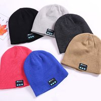 Wholesale Bluetooth Hat Music Beanie Cap Bluetooth Stereo wireless earphone Speaker Microphone Handsfree For IPhone X Samsung Galaxy S7 Music Hat
