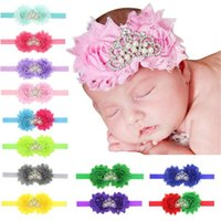 37 Colors Baby Headbands Flowers Shabby Elastic Headbands Girls Kids  Rhinestone Tiara Hairbands Children Hair Accessories Headdress KHA108 86957d8bbbb9