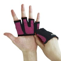 Wholesale Finger Callus - weightlifting gloves gripper callus guard workout gloves for cross training fit athletes enhanced cilicone grip palm 4 finger fitness gloves
