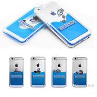 Wholesale Iphone Carton Cases - For Iphone 6 cases 3D Liquid Flow Case Carton Hard Plastic Case For Iphone 6 plus Back Cover Case 50pcs Opp Package