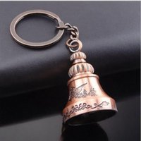 Wholesale Chinese Wind Bells - 2017 new Chinese wind dragon bell ornaments Keepsake couples retro Keychain car pendant Christmas Keychain