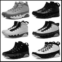 Wholesale Cool Leather Mens Boots - 2016 air retro 9 mens Basketball Shoes Cool Grey Black White authentic sports shoes retro IX Sneakers Boots