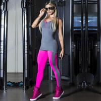 mono elástico al por mayor-Rose Red Comprehension Yoga Monos Sexy Push Up Fitness Gym Leggings Medias de gran tamaño Elástico de cintura alta Deportes Body Mujeres