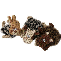 Wholesale Sheep Dog Toy - Cute Cartoon Puppy Dog Chew Squeaker Rubbit Sheep Squeaky Plush Sound For Dog Sound Toy Teethers Mix Order 30PCS LOT
