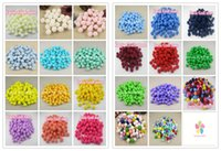 Wholesale Pompoms Decorations - Wholesale-72pcs 144pcs 14mm multi colors options Pompom Fur Craft DIY Soft Pom Poms Wedding Decoration Doll Accessories 22010014