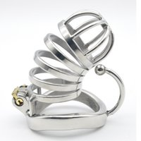 Wholesale Male Chastity Large Catheter - Stainless Steel Male Chastity large Cage with Base Arc Ring Devices C276 C276-1