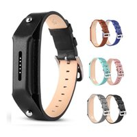 Wholesale Watch Fastener - For fitbit flex 2 Tracker band Genuine Leather Fashion Accessory Wristband Bracelet Strap Replacement with Secure Watch Buckle and Fastener
