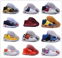 Wholesale Football Boots Usa - New Kyrie 2 Black Gold Champion USA Triple Black Crossover Cavs Wolf Grey Kyrie Irving Women Men Dye BHM All Star Basketball Shoes Sneakers