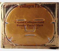 biyolojik nemlendirici kollajen maske toptan satış-Toptan Altın Bio-Kolajen Yüz Maskesi Yüz Maskesi Kristal Altın Tozu Kollajen Yüz Maskesi Nemlendirici Anti-aging 24 k Altın Maskeleri