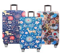 Wholesale Fashion High Quality Thick Elastic Luggage Protective Cover inch Trunk Case Waterproof Travel Suitcase Cover