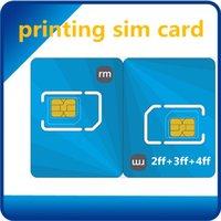 Wholesale Java Gsm - 64k Or 128k Java GSM SIM Cards Printing Nano SIM Card