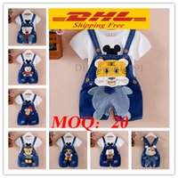 Wholesale Dhl Jeans - 20pcs DHL Free Summer Spring kids overall jeans clothes newborn baby bebe denim overalls jumpsuits for toddler infant boys girls bib pants