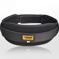 ingrosso cintura di protezione posteriore-Cintura di supporto per sollevamento pesi Cintura di rinforzo per fitness in nylon nero Cintura di protezione per gli uomini Protezione per la boxe Fitness Cintura di sostegno per la schiena M / L / S