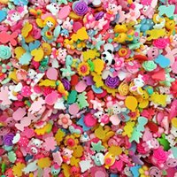 Wholesale Mix Resin Hair - Fashion DIY Korean cartoon flatback resin charms, mixed girl hair accessories mobile phones jewelry flowers scrapbooking findings beading