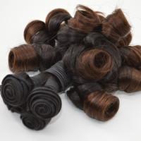 волосы 5pcs ombre оптовых-Ombre Funmi волос с закрытием шнурка девственницы бразильские пучки человеческих волос с закрытием 5 шт. Много клубок бесплатно