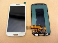 Wholesale galaxy s3 screen assembly - TPFIX DISPLAY For Samsung Galaxy S3 i9300 SIII LCD Display Touch Screen Digitizer Glass Full Assembly Panel Tactil Ecran