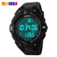 Wholesale Led Running Display - Wholesale- SKMEI Fashion Men Outdoor Running Fitness Pedometer 3D LED Display Sports Watches Women Watch Waterproof Digital Wristwatches