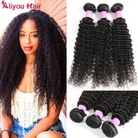 Wholesale Virgin Indian Curly Weave Hairstyles - B2C Wholesale Peruvian Kinky Curly Virgin Human Hair Bundles Wet Wavy Weave 6 Bundle Deals Curly Virgin Hair Wefts NEW ARRIVAL Hairstyles