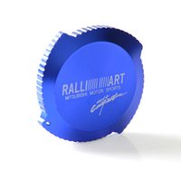 Wholesale Ralliart Evo - Wholesale- 2015 Hot RALLIART Engine Oil filler Cap Fuel Tank Cover For Mitsubishi EVO Blue high quality free shipping