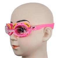 розетки для очков оптовых-Дети Дети Мальчики Девочки Водные очки для плавания с затычками для ушей Противотуманные водонепроницаемые очки для дайвинга Плавательный бассейн Пляжные очки Силиконовые DHL / Fedex