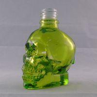 Wholesale China Empty Bottle - E Liquid Transparent Green Skull Bottle China Supplier Vape Liquor Dropper Unicorn Cap Bottle for Empty Nail Polish Bottle