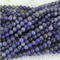 """Wholesale Natural Blue Tanzanite - Wholesale- Wholesale Natural Genuine Blue Tanzanite Round Loose Beads 4mm 5mm 6mm DIY Jewelry Necklaces or Bracelets 15"""" 04328"""