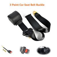 Wholesale Car Seat Belt Universal - Universal Retractable 3 Point seat Auto Car Seat Belt Bolt+Safe Extension Buckle Extension Longer Black 12769 Free Shipping