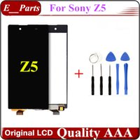 reemplazo de pantalla xperia al por mayor-1 piezas (100% original) para Sony Xperia Z5 E6603 E6633 Pantalla LCD Pantalla táctil Reemplazo del ensamblaje del digitalizador Blanco $ Negro con herramientas abiertas