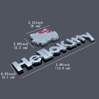 Wholesale metal kitty - 10Pcs Lot Metal Chrome 3D Hello kitty Car Decal Logo Emblem Decal Sticker For Any Cars Free Shipping