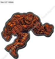 """Wholesale Party Things - 3.5"""" The Thing Fantastic Four 4 Avengers Marvel Comics TV Movie Uniform iron on patch applique badge emblem party favor gift"""